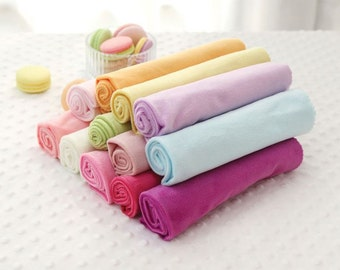 1 mm Smooth Cuddle Minky Fabric by Yard - 12 Colors Selection