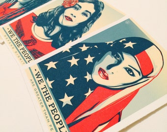 We the people print  • (3pc)  Historic collection • lithograph 3+1 Sale!!