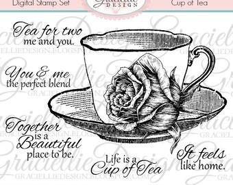 Cup of Tea - Digital Stamp Set