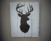Rustic Home Decor Whitetail Buck Signs Wooden Deer Decor Farmhouse Wall signs Wood deer decor cabin hunting lodge decor custom gift man men