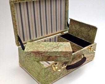 Sewing/Memory/Keepsake map carry case