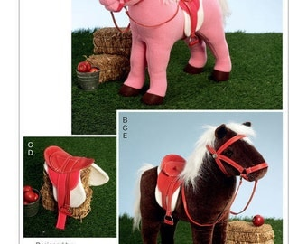 Vogue Pattern V9194 Plush Doll Horses with Saddle, Bridle and Blanket