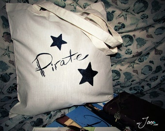 HandDrawn PIRATE Tote Bag