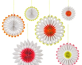 Neon Pinwheel Decorations