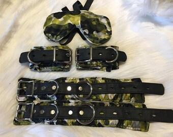 Brocade Wrist and Ankle Restraint Set:  Camo Print