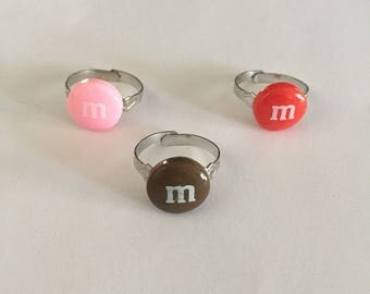 Chocolate m candy rings!