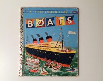 1951 Vintage Little Golden Book - Boats