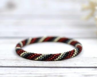 yoga bracelet best friend gift for girlfriend meditation bracelet stretch bracelet inspirational jewelry beaded bracelet seed bead bracelet