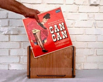 Vinyl Record Storage Crate - Organize LPs and Display Favorite Album Covers