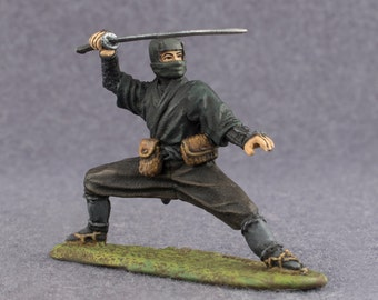Medieval Toys Figures Japanese Ninja Hand Painted Miniature Collection 54mm Toy Soldiers 2 1/4 inches Action Figures
