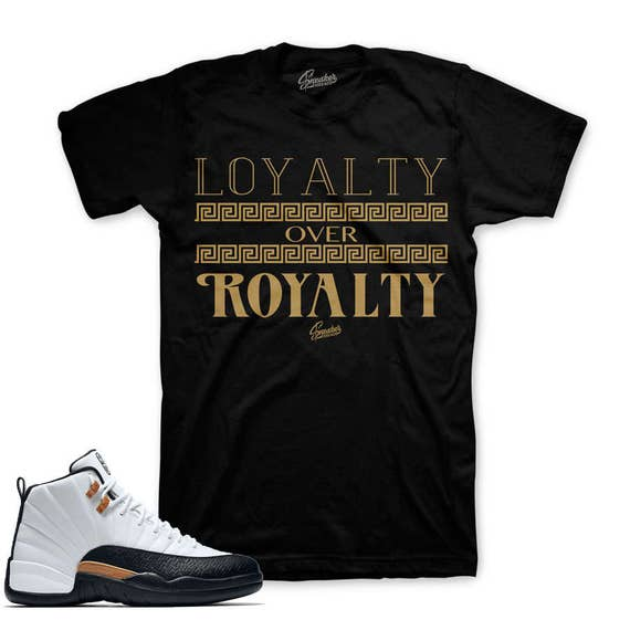 Royalty Over Loyalty Coloring Page: Jordan 12 Chinese New Year Loyalty Over Royalty Shirt