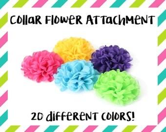 Dog Collar Flower - Collar Flower Attachment - Collar Flower Add On - Collar Flower Accessory