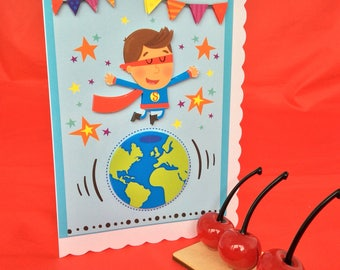Superman or superdad? birthday card Father's Day card