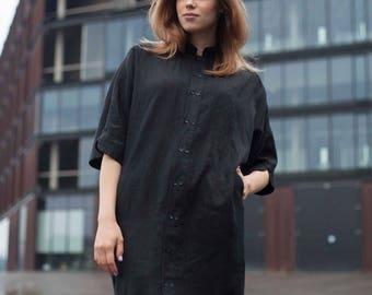 Linen shirt. women shirt, women blazer, tops, linen tops, linen dress,kimono sleeves.