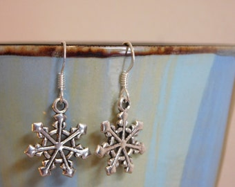 Snowflake Earrings - Winter Jewelry - Gift For Her - Gift for Girl - Christmas Gift