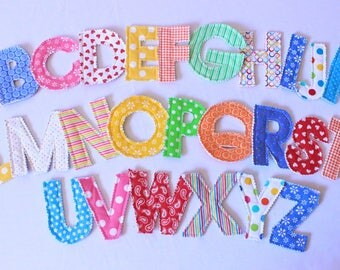 Fabric Alphabet/ Magnetic Alphabet/ Baby Learning Toy/ Learning Toys/ ABC Magnets/ Educational Toy