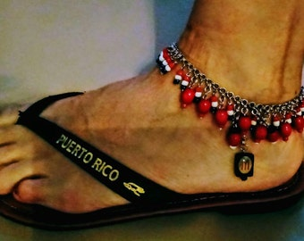 Puerto Rico Beaded Anklet