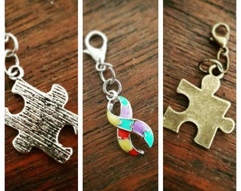 Autism Awareness Clip-on Charms 3 styles to choose from