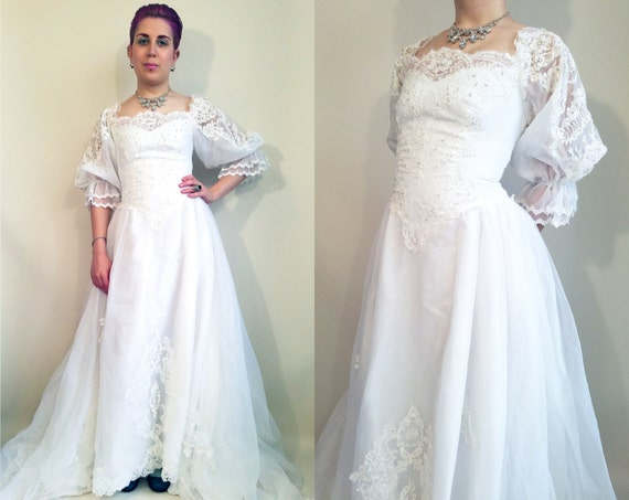 80s Wedding Dress Vintage Wedding Dress 80s Victorian Princess
