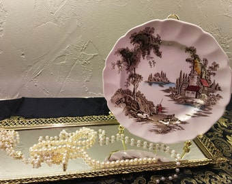 The Old Mill Bread Plate, Made In England Bread Plate