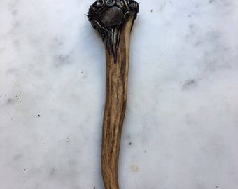 ¡Listo para enviar! Colgante con cuerno de asta - colgante de cuerno - cristal colgante - colgante - - colgante pagano de Brujas