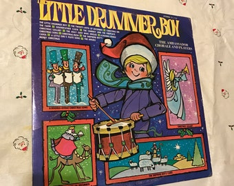 Christmas Record Vinyl Music Sleigh Ride Jingle Bells Santa Claus Tinkerbell 33 RPM Reindeer Children Singing lcww SX1789