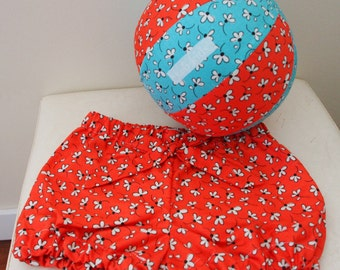 Flowers Bloomers Set (Bloomers + Balloon Ball)