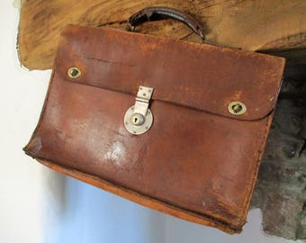 Leather Attache Case, W&H Gidden London, Vintage Leather Briefcase, Gidden Briefcase, Leather Satchel, Hand Made Case, Bridle Leather