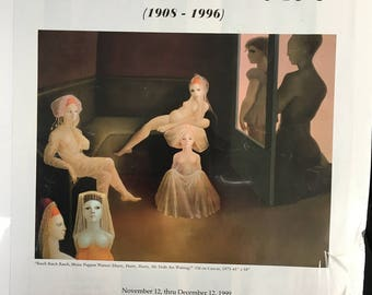 Leonor Fini poster from her exhibition in Soho New York