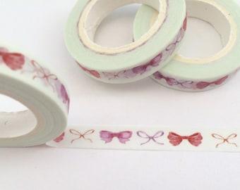 Pink Bows Washi Tape 8mm x 10m