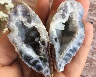 Occo Geode-Geode Set -Drusy quartz Geodes-Ocho Tube Agate Geodes-Drusy Geode Set-Geode-Quartz