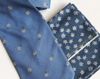 Vintage Christian Fischbacher blue silk tie