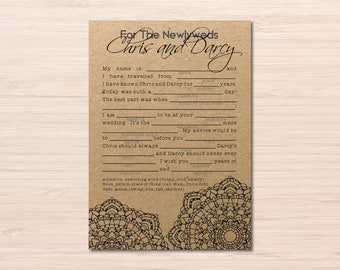 Wedding Mad libs ~ Wedding Madlibs ~ Mad libs ~ Wedding Stationary ~ Wedding Reception Games ~ Printable Wedding Place Cards ~ Wedding Games