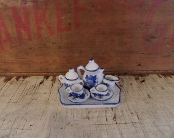 Vintage Miniature China Tea Set