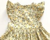 LEMONADE // pinafore dress // toddler girls dress