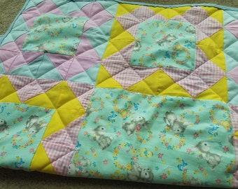 Bunny Baby Quilt Easter Blanket