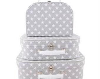 Set of 3 Nordic Star Storage Suitcases