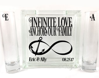 Infinite Love Anchors Our Family -  Nautical Unity Sand Ceremony Set - Anchor Unity Set - SU-1063