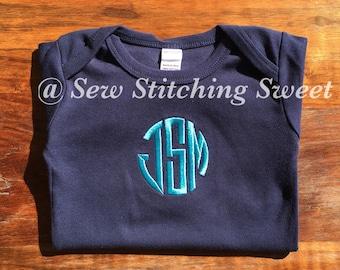 Personalized Baby Bodysuit, Monogrammed Bodysuit, Personalized Bodysuit, Personalized Bib, Monogrammed Bodysuit and Bib