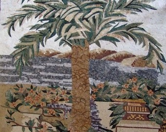 Arched Mosaic Palm Tree