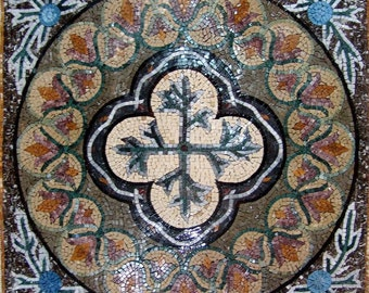Geometric Flower Mosaic - Gloria