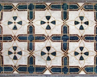 Geometric Floor Mosaic - Kai II