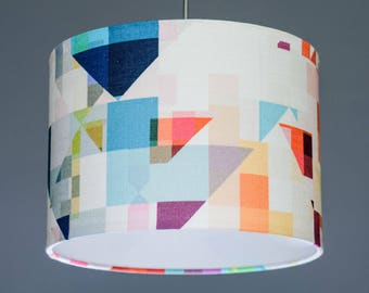 Studio Flock Northmore Major Geometric Fabric Lampshade Pendant