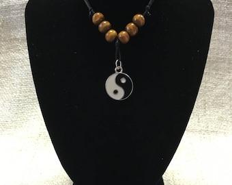 Silver Yin Yang Zen Meditation Necklace