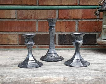 Gothic / Halloween Candle Holders