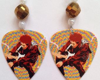 1 Pair- Jimi Hendrix Guitar Pick Earrings