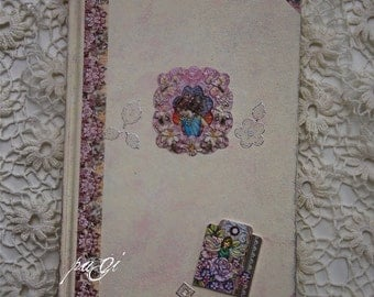 Spring fairy diary, journal, notebook, vintage style, vintage - Shabby Chic diary, notebook, blank books