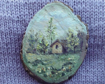 "Wood painting ""A House"""