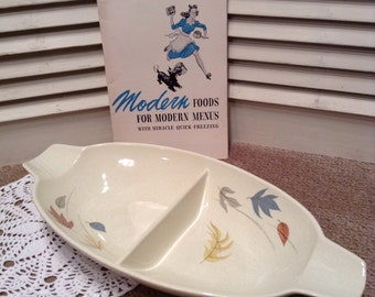 Franciscan Autumn Leaves Serving Dish - Mid Century Modern Retro