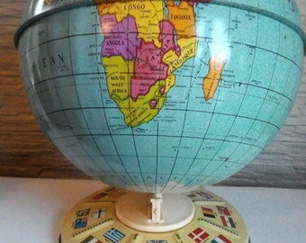 Globe tin-old globe-globe vintage- world map English-Chad Valley globe
